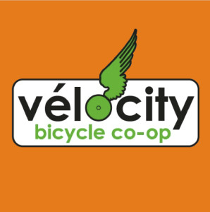 VeloCity Logo Orange Background Square v1