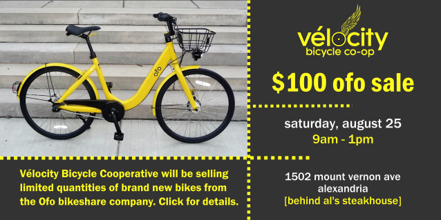 Brand New Dockless Bike Surplus Sale at Vélocity