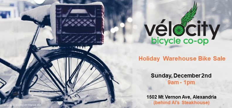 Vélocity Holiday Warehouse Bike Sale (Sunday, December 2nd 9am – 1pm)