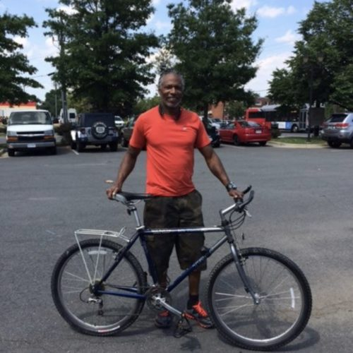 Man with Bike-Scholarship, December 2017