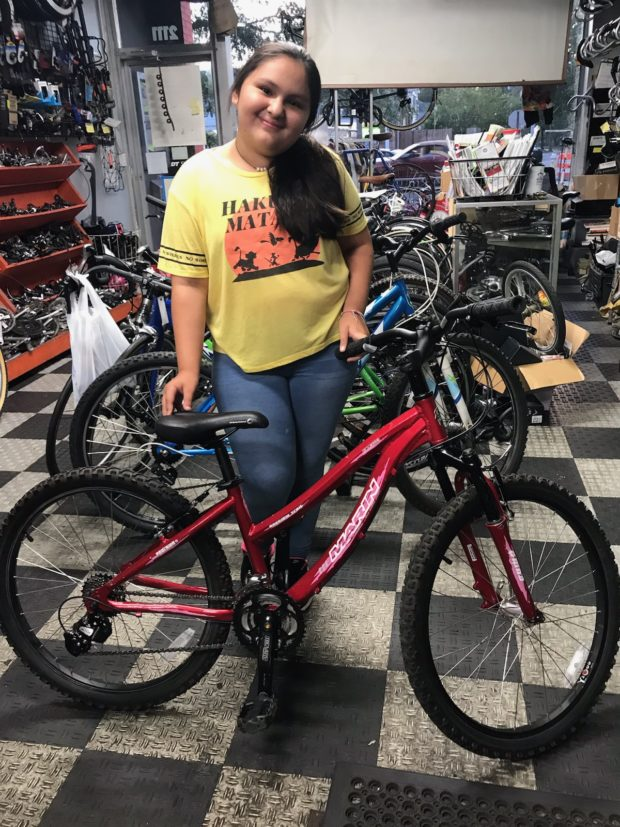 Young woman, October 2019 bike scholarship
