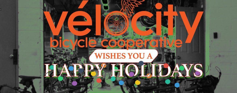 Velocity warehouse and Happy Holidays message