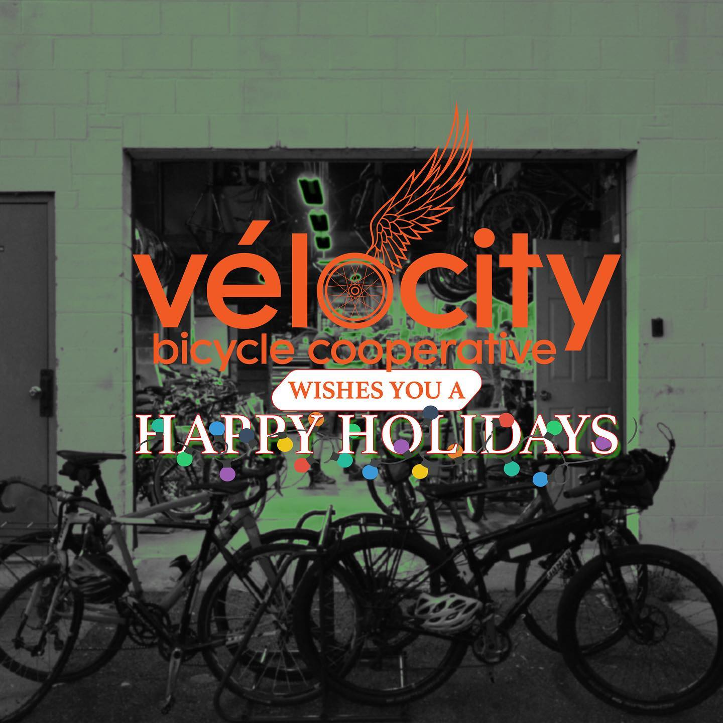 Vélocity shop closed Dec 24-26, 2020 and Jan 1, 2021