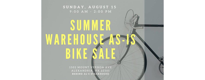 A vintage road bike and Summer As-is bike sale